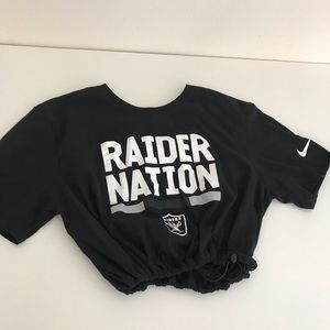 Nike raiders drawstring crop tee